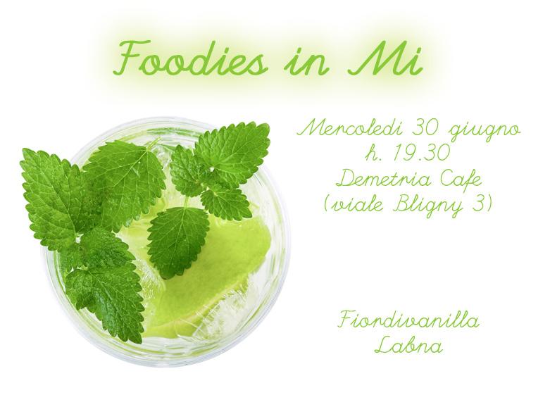 Foodies in Mi, questa sera!