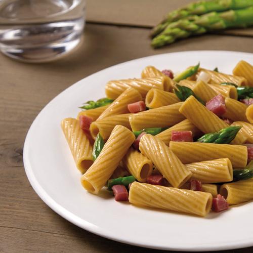 Tortiglioni-Integrali-con-asparagi-e-prosciutto
