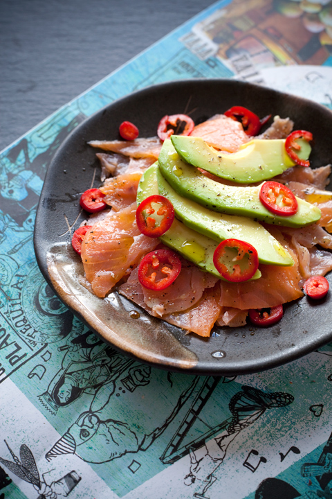 Salmon and avocado cevichè – Ceviche di salmone e avocado