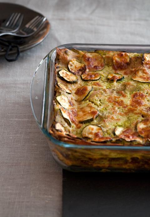 Pensiamo al pranzo: Lasagne di farro con crema di zucchine e ricotta