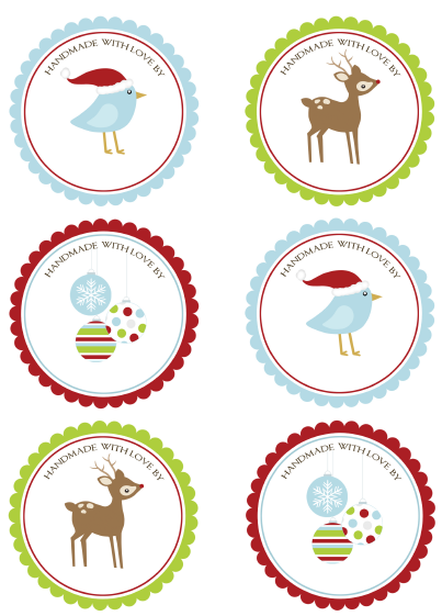 Christmas labels – card per Natale
