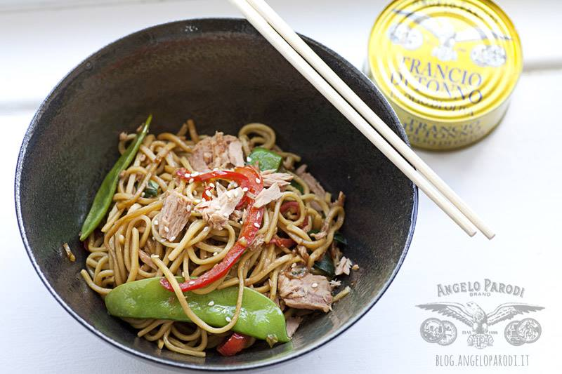 Noodles stir-fry con tonno Angelo Parodi