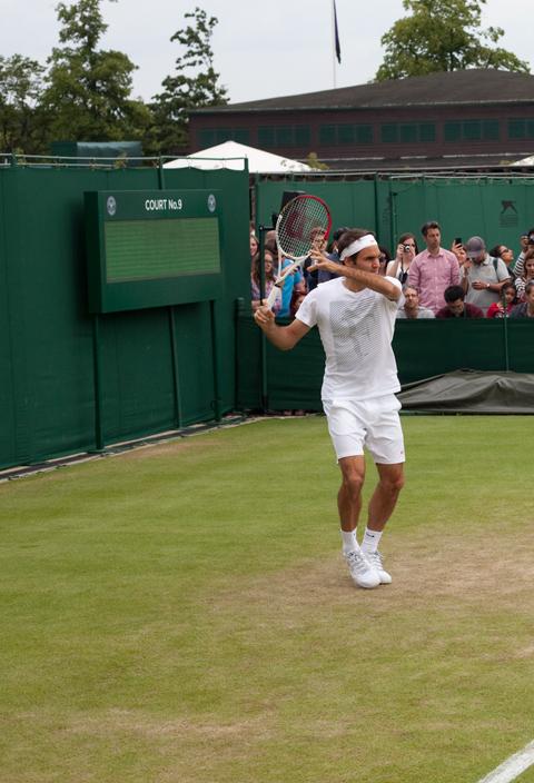 Quella giornata sull'erba con Naomi, Andy Murray e Federer…