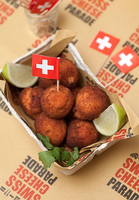 Polpette svizzere gamberetti e Gruyére