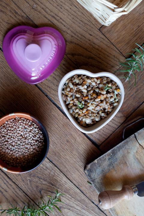 Minestra di farro e lenticchie e Buon Capodanno