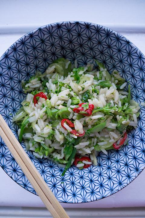 Jamie Oliver's Jiggy Jiggy greens rice – Le verdure Jiggy di Jamie