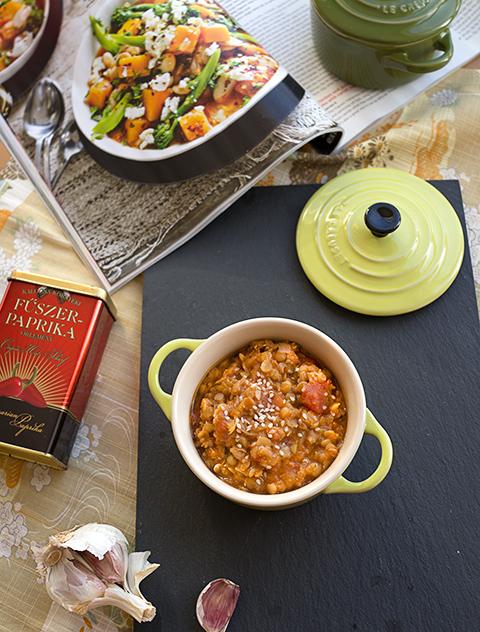 Paprika, Lentil & Tomato soup – Zuppa piccante di lenticchie e pomodoro