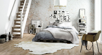 airy-and-fresh-Scandinavian-bedroom-with-upstairs-closet.-by-Pikcells-Visualisation-Studio