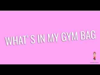 What's in my gym bag – cosa c'è nella mia borsa da palestra