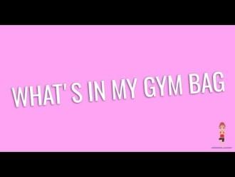 What's in my gym bag – cosa c'è nella mia borsa da palestra