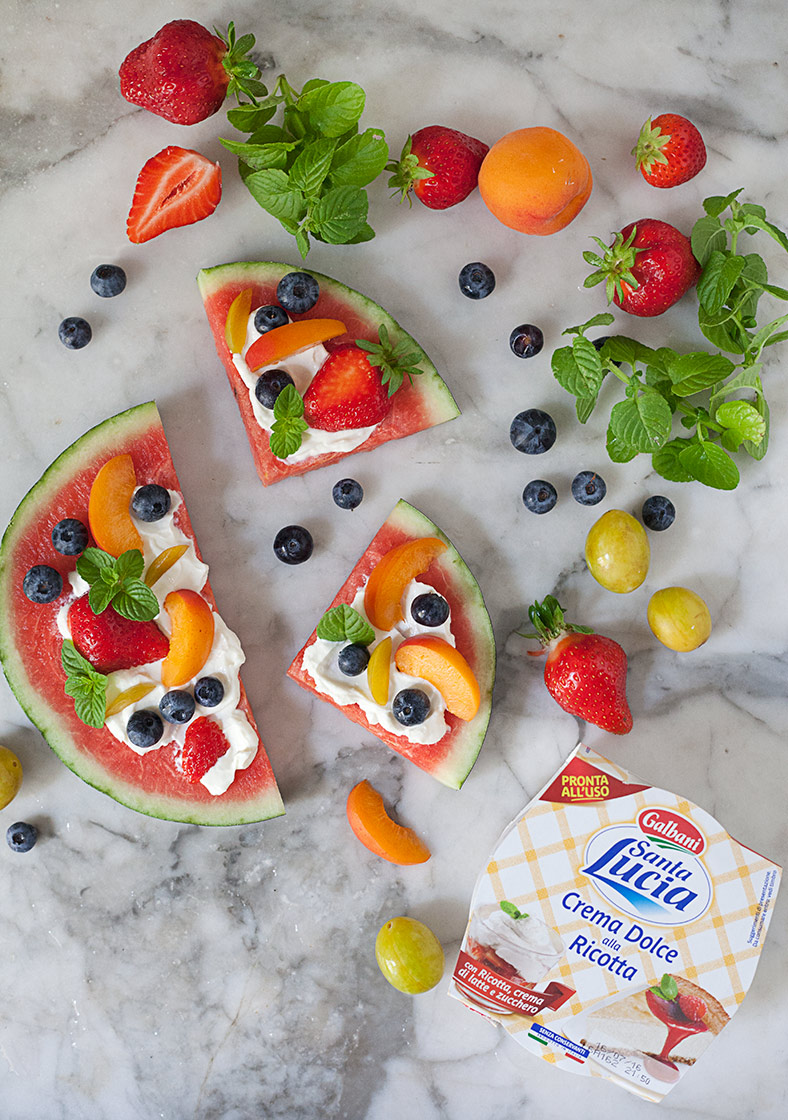 ricetta fruit pizza