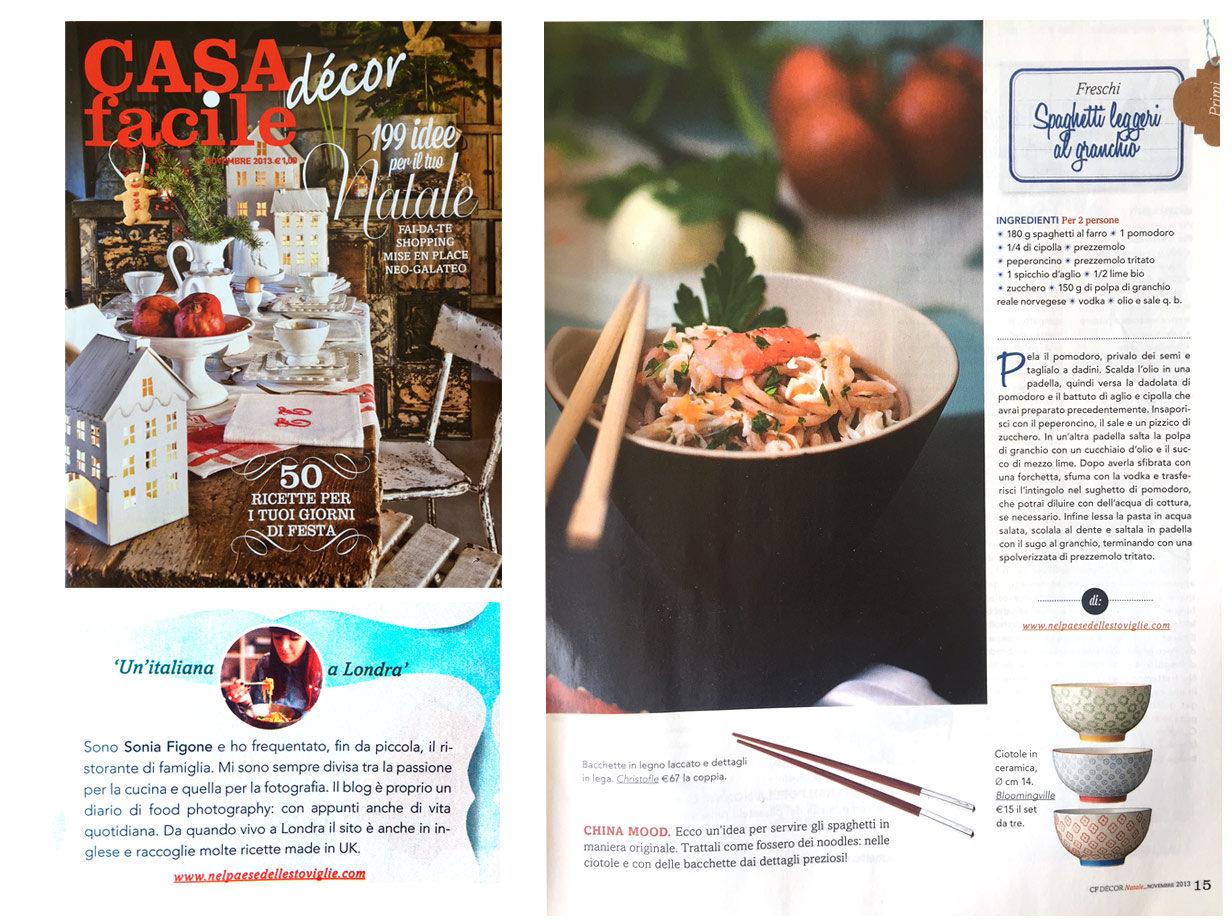 Casa Facile magazine - Articolo Sonia Figone